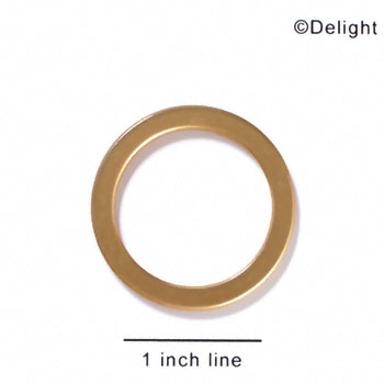 "A1054 tlf - 1 1/2"" Ring - Gold - Acrylic Pendant (6 per package)"