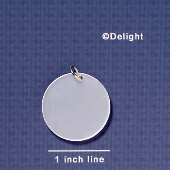 "A1071 tlf - 1 1/8""  Disc - Pearl - Acrylic Pendant (6 per package)"