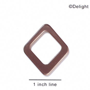 "A1084 tlf - 1 1/2"" Diamond - Bronze - Acrylic Pendant (6 per package)"