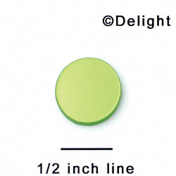 "A1096 tlf - 5/8"" Disc - No Hole - Lime Green Pearl - Acrylic Flat Back (6 per package)"