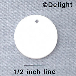 "A1101 tlf - 1"" Disc with Hole - Pearl - Acrylic Pendant (6 per package)"
