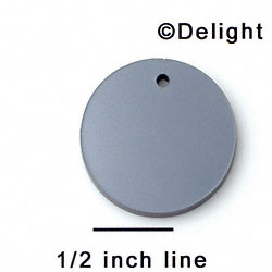 "A1103 tlf - 1"" Disc with Hole - Black Pearl - Acrylic Pendant (6 per package)"