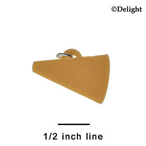 "A1177+ tlf - 1.25"" Gold Megaphone - Acrylic Charm (6 per package)"