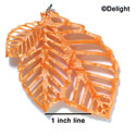 A1010 tlf - Extra Large Triple Leaf - Pearly Orange - Acrylic Pendant (6 per package)