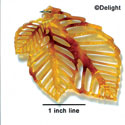 A1011 tlf - Extra Large Triple Leaf - Orange Opalescent Tortoise - Acrylic Pendant (6 per package)