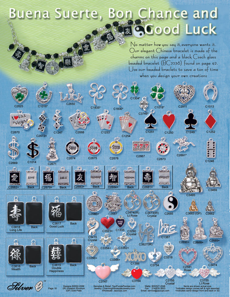Chinese gambling charms