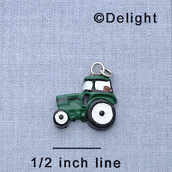 7723 - Tractor Green - Resin Charm (12 per package)