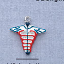 7136 ctlf - Caduceus - Medical Sign - Resin Charm (12 per package)
