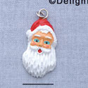 7421* - Santa Face Long - Resin Charm (Left & Right) (12 per package)