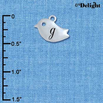 C5416+ tlf - Little Bird - G - Silver Plated Charm (6 per package)