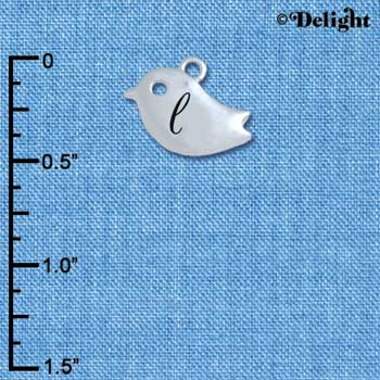C5421+ tlf - Little Bird - L - Silver Plated Charm (6 per package)