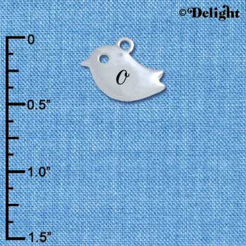 C5424+ tlf - Little Bird - O - Silver Plated Charm (6 per package)
