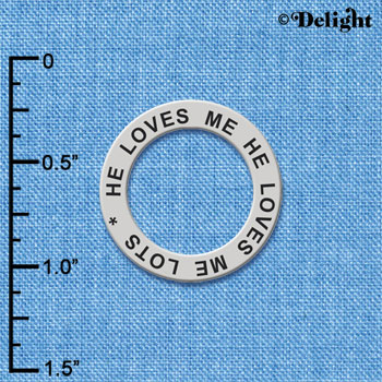 C6101+ tlf - He loves me He Loves me lots - Affirmation Message Ring (6 per package)
