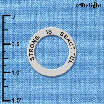 C6106+ tlf - Strong Is Beautiful - Affirmation Message Ring (6 per package)