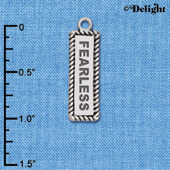 C6117+ tlf - Fearless - Silver Plated Charm (2 per package)