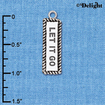 C6122+ tlf - Let It Go - Silver Plated Charm (2 per package)