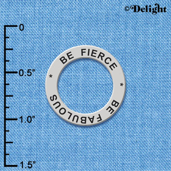 C6156+ tlf - Be Fierce Be Fabulous - Affirmation Message Ring (6 per package)
