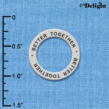 C6161+ tlf - Better Together - Affirmation Message Ring (6 per package)
