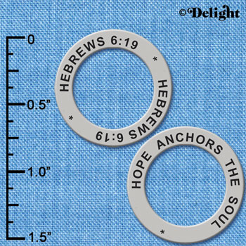 C6322+ tlf - Hebrews 6:9 - Affirmation Ring (6 per package)