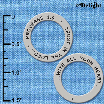C6331+ tlf - Proverbs 3:5 - Affirmation Ring (6 per package)