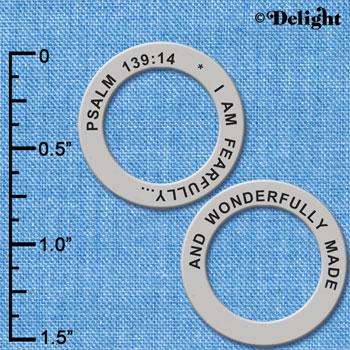 C6334+ tlf - Psalm 139:14 - Affirmation Ring (6 per package)