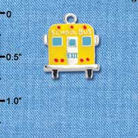 C1045 tlf - School Bus Back - Silver Plated Charm (6 per package)