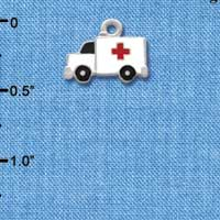 C1059* tlf - Ambulance Cross - Silver Plated Charm (left & right) (6 per package)