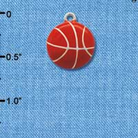 C1066 tlf - Basketball - Silver Plated Charm (6 per package)