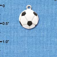 C1070 tlf - Soccer ball - Silver Plated Charm (6 per package)