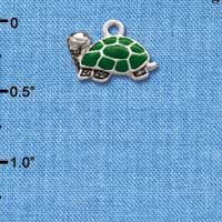 C1255* ctlf - Turtle Side - Silver Plated Charm (left & right) (6 per package)