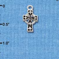 C1306 tlf - Cross - Silver Plated Charm (6 per package)