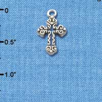 C1308 tlf - Cross - Silver Plated Charm (6 per package)