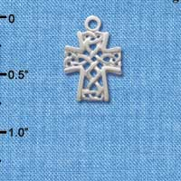 C1356 tlf - Cross - Silver Plated Charm (6 per package)