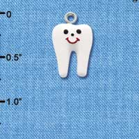 C1420 ctlf - Tooth - Silver Plated Charm (6 per package)