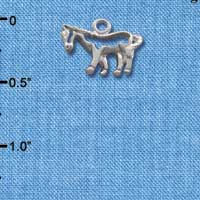 C1638* ctlf - Horse Outline - Silver Plated Charm (left & right) (6 per package)