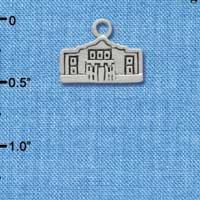 C1692 ctlf - Alamo - Im. Rhodium Plated Charm (6 per package)