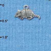C1722* tlf - Armadillo Small - Im. Rhodium Plated Charm (left & right) (6 per package)