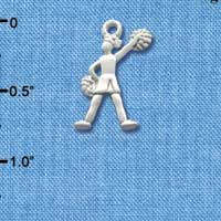 C1976 tlf - Cheerleader Standing - Silver Plated Charm (6 per package)