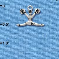 C1977 tlf - Cheerleader Splits - Silver Plated Charm (6 per package)