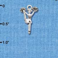C1978 tlf - Cheerleader Kicking - Silver Plated Charm (6 per package)