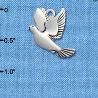 C2022* ctlf - Dove - Silver Plated Charm (6 per package)