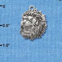 C2033* - Large Lion - Mascot - Silver Plated Charm (6 per package)