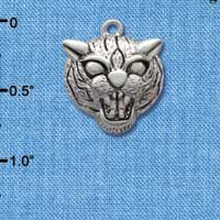 C2036 tlf - Large Wildcat - Mascot - Silver Plated Charm (6 per package)