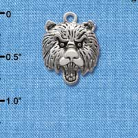 C2057 - Large Bear - Mascot - Silver Plated Charm (6 per package)