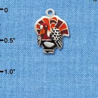 C2118 tlf - Turkey - Silver Plated Charm (6 per package)