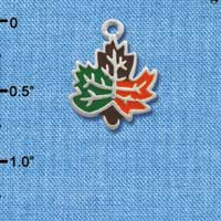 C2121 ctlf - Fall Leaf - Silver Plated Charm (6 per package)