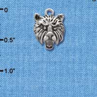 C2201 ctlf - Small Bear - Mascot - Silver Plated Charm (6 per package)
