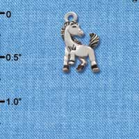 C2204* tlf - Small Mustang - Mascot - Silver Plated Charm (Left & Right) (6 per package)