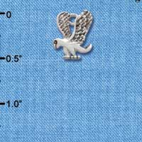 C2208*ctlf - Small Eagle - Mascot - Silver Plated Charm (Left & Right) (6 per package)