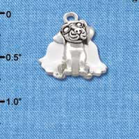 C2218 tlf - Dog Angel - Silver Plated Charm (6 per package)